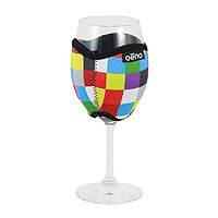 Vino Hug Wine Glass Sleeve - Squares