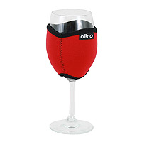 Vino Hug Wine Glass Sleeve - Red