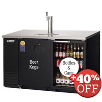 Scratch & Dent - EBD2-BBG Back Bar & Direct Draw Commercial Keg Refrigerator with Solid & Glass Doors