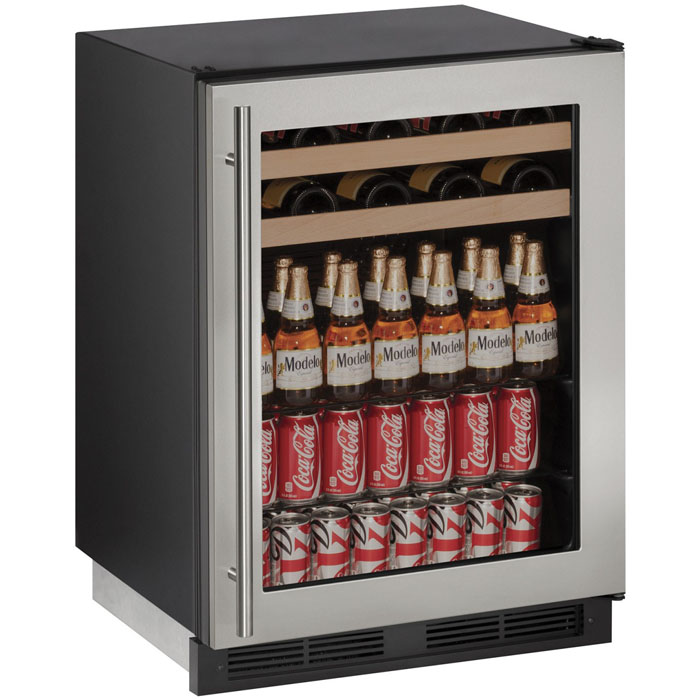 1 Photo of Beverage Center - Stainless Steel Trimmed Door with Lock - Field Reversible