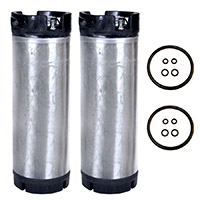 Set of 2 - Reconditioned  5 Gallon Ball Lock Keg