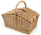 Picnic Time Piccadilly Double-Lid Picnic Basket for 2