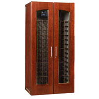 Le Cache Contemporary Series Model 2400 Wine Cellar - 286-Bottle Capacity, Classic Cherry Finish