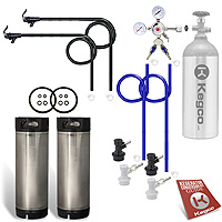 Two Keg Homebrew Party Kegerator Kit - Ball Lock