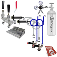Deluxe Two Keg Door Mount Kegerator Conversion Kit