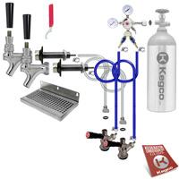 Ultimate Door Mount Kegerator 2 Tap Conversion Kit