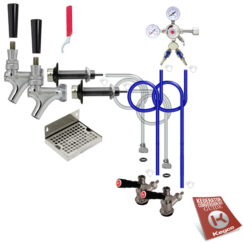 Deluxe Two Keg Door Mount Kegerator Conversion Kit - EBDCK2-542-2_NT - Kegco.com & Marketplace