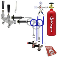 Standard Two Keg Door Mount Kegerator Beer Tap Conversion Kit with 5 lb. Co2 Tank EB2SCK-5T - Kegco.com & Marketplace