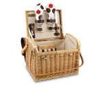 Kabrio Moka Willow Picnic Basket for 2