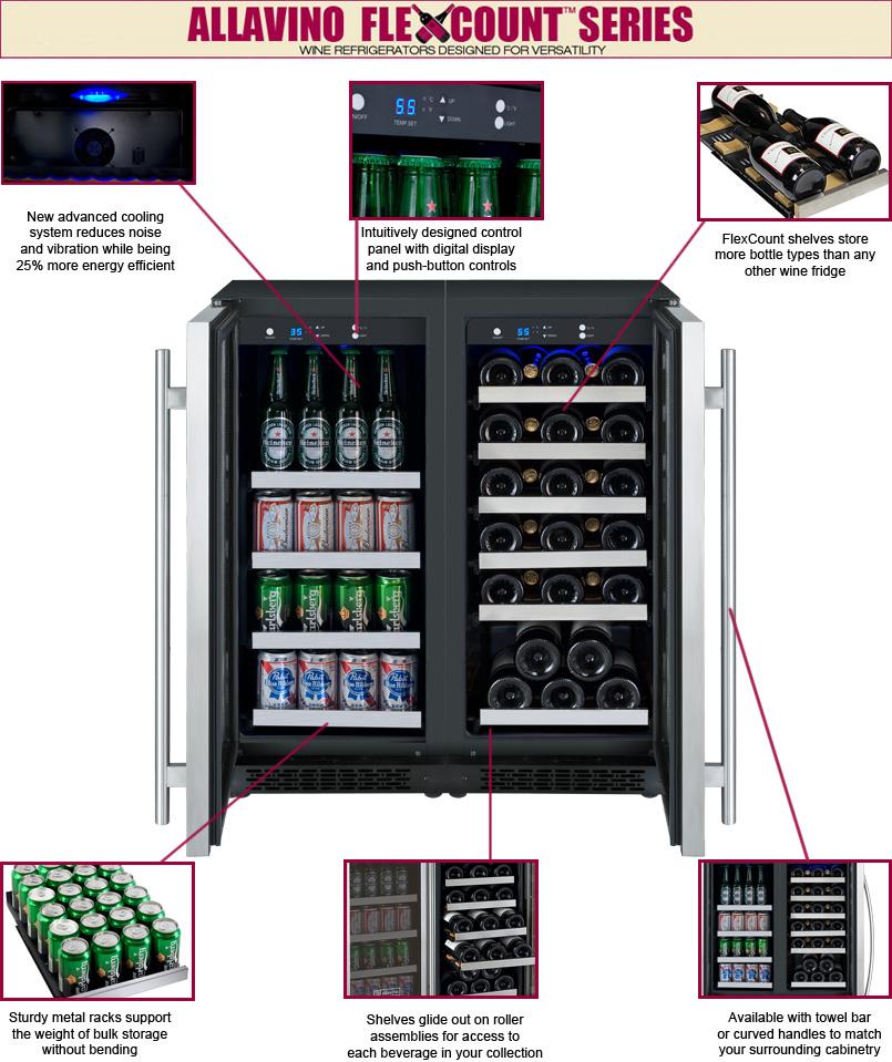 1 Photo of FlexCount Series Dual Zone Wine & Beverage Center