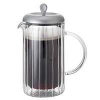 8 Cup Ribbed Double Wall Glass French Press
