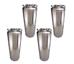 Kegco KEG-5GAL 5 Gallon Ball Lock Home Brew Strap Keg - Brand New - Set of 4