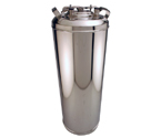 Kegco Brand New Homebrew 5 Gallon Strap Keg - High Gloss Stainless Steel Exterior Finish