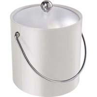 White Vinyl Ice Bucket