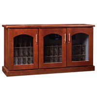 Contemporary Credenza - 115 -Bottle Wine Cellar - Classic Cherry Finish