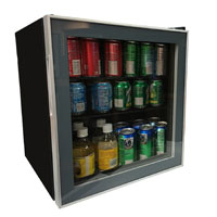 1.7 Cu. Ft. Beverage Cooler - Black Cabinet and Platinum Trim Glass Door