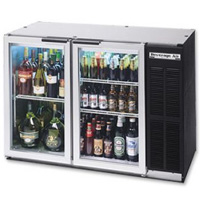 Back Bar Refrigerator w/Glass Doors - Black