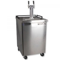 Dual Faucet Outdoor Keg Refrigerator - Stainless Steel