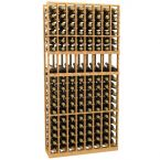 8 Column Display Wood Wine Rack