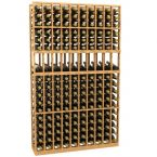 10 Column Display Wood Wine Rack