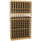 9 Column Display Wood Wine Rack