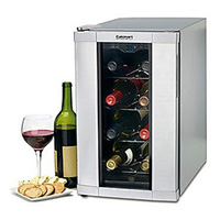 Cuisinart CWC-1200 12-Bottle Private Reserve Wine Cellar with Stainless Steel Glass Door