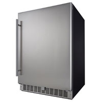 Silhouette Professional Niagara 5.5 Cu. Ft. Built-In Refrigerator - Black Cabinet with Stainless Steel Door