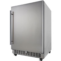 Silhouette Professional Aragon 5.5 Cu. Ft. Outdoor Rated Refrigerator - Stainless Steel