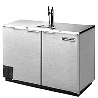 Kegerator Two Keg Commercial Beer Cooler - All Stainless Steel