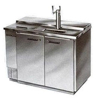 Club Top 2-Keg Commercial Beer Cooler - All Stainless