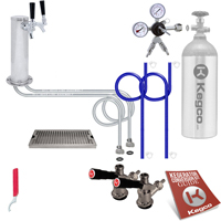 Deluxe Two Keg Tower Kegerator Conversion Kit