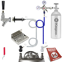 Deluxe Homebrew Kegerator Refrigerator Conversion Kit