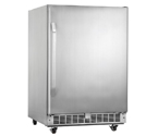 Danby DOAR154BLSST Silhouette 5.4 Cu Ft Outdoor Rated Refrigerator - Stainless Cabinet with Stainless Steel Door