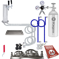 Deluxe Homebrew Two Keg Tower Kegerator Conversion Kit