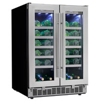Silhouette Professional Napa 42 Bottle Two Door Built-In Wine Refrigerator