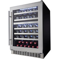 Silhouette Professional Sonoma 51 Bottle Dual Zone Built-In Wine Refrigerator