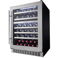 Silhouette Professional 51 Bottle Dual Zone Built-In Wine Refrigerator