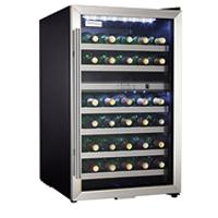 Danby Silhouette DWC283BLS 30-Bottle Dual Zone Wine Cooler - Stainless Steel Glass Door