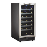Danby DWC1534BLS 34-Bottle Built-in Wine Cooler with Stainless Steel Door Trim