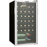 Danby DWC350BLPA 35-Bottle Wine Cooler with Platinum Door Trim