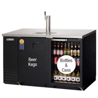 Back Bar & Direct Draw Commercial Keg Refrigerator with Solid & Glass Doors