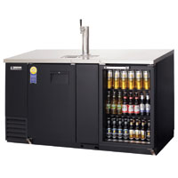 Back Bar & Direct Draw Commercial Keg Refrigerator with Solid & Glass Doors - 24
