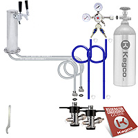 Economy Two Keg Tower Kegerator Conversion Kit