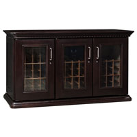 European Country Euro Credenza 180-Bottle Wine Cellar - Chocolate Cherry Finish