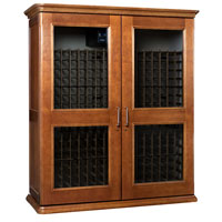 European Country Euro 5200 622-Bottle Wine Cellar - Provincial Cherry Finish