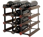Bordex 12 Bottle Wine Rack - Cherry Finish