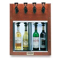 Napa 4 Bottle 2 Red 2 White Wine Dispenser Preservation Unit - Mahogany