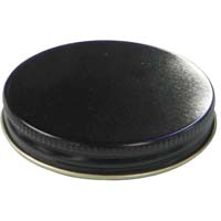 38mm Black Metal Screw Cap