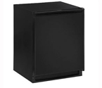 U-Line 1224RFB-00A 1000 Series Frost-Free Refrigerator / Freezer - Black Cabinet with Black Door