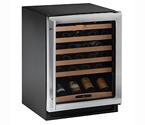 U-Line Echelon 2175WCS Stainless Steel Wine Captain 48 Bottle Wine Cooler Refrigerator